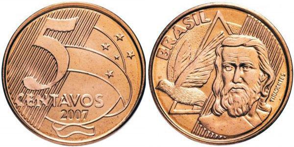 5 сентаво, Бразилия, 2007 год