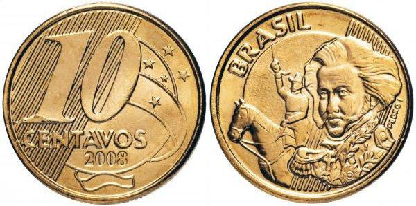 10 сентаво, Бразилия, 2008 год