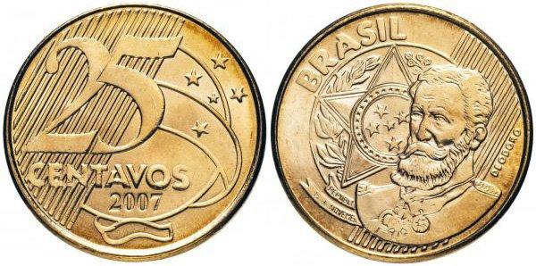 25 сентаво, Бразилия, 2007 год