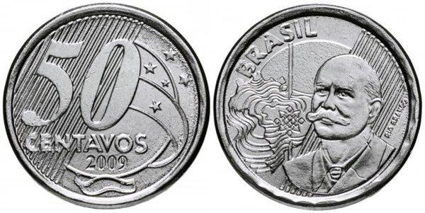50 сентаво, Бразилия, 2009 год