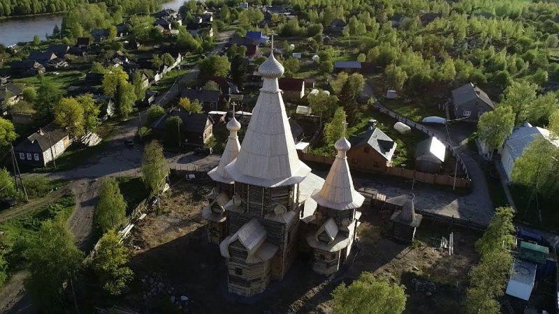 Вид на Собор Успения Пресвятой Богородицы, город Кемь