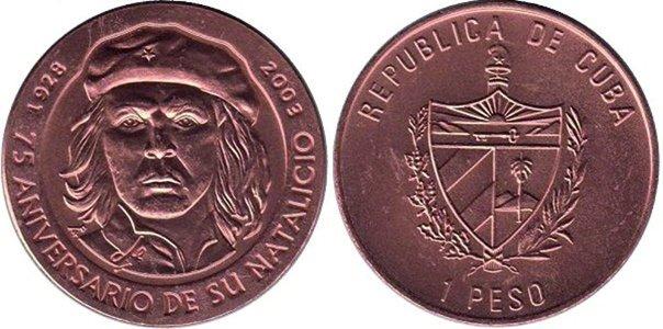 1 песо 2003 года, 75-лет со дня рождения Че Гевары