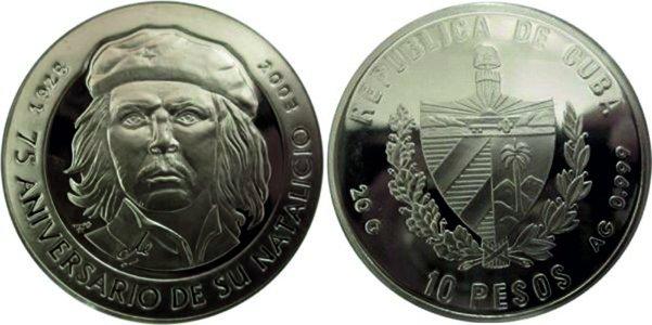 10 песо 2003 года, 75-лет со дня рождения Че Гевары
