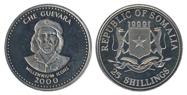 25 шиллингов с Че Геварой, Сомали, 2000 год