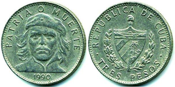 3 песо 1990 года
