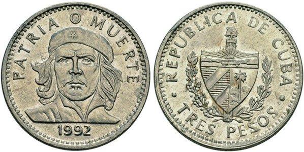 3 песо 1992 года