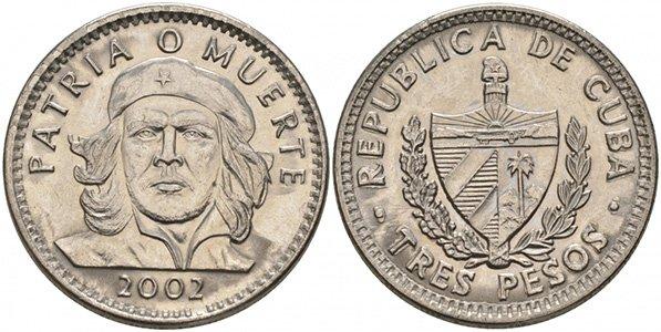 3 песо 2002 года
