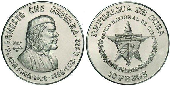 10 песо 1987 года