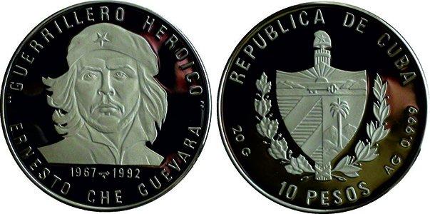 10 песо 1992 год, в память о 25-летии со дня смерти Че Гевары
