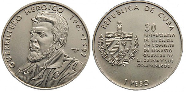 1 песо 1997 года, в память о 30-летии со дня смерти Че Гевары