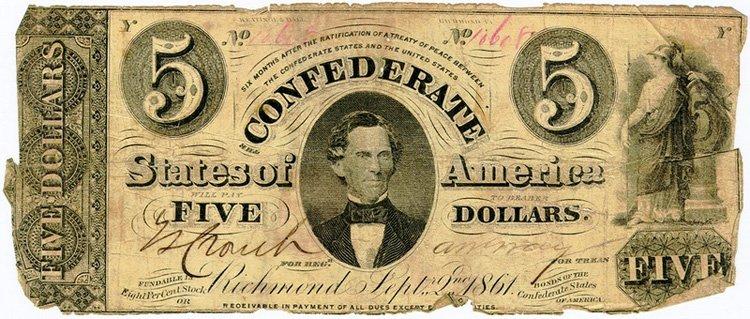 Доллары Конфедерации 1861 года (южане)