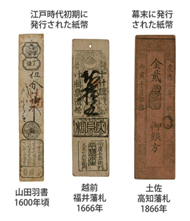 Эволюция банкнот Японии