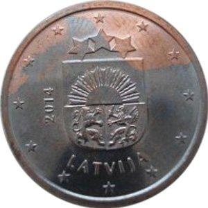 Евроцент с остатками плакировки