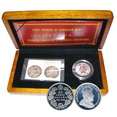 Юбилейный аналог первой монеты, выпущенной монетным двором Канады
