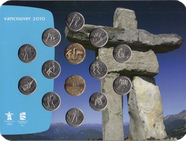 Памятный набор к олимпиаде в Ванкувере