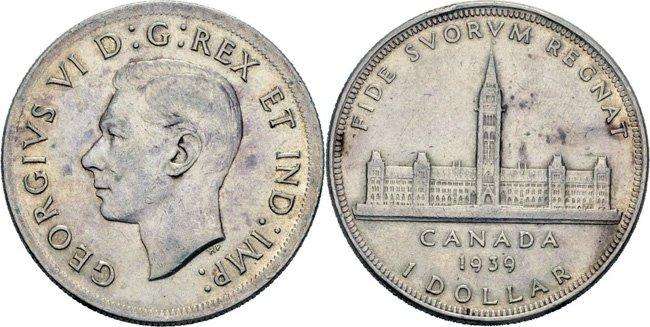Серебряный доллар 1939 года