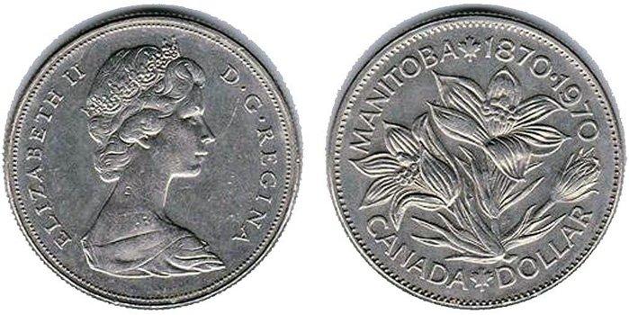 Никелевый памятный доллар Канады