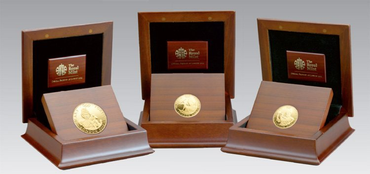 Монеты из драгоценных металлов с сертификатами