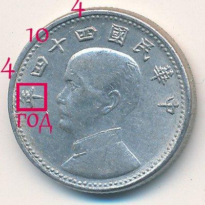 Датировка монет Тайваня