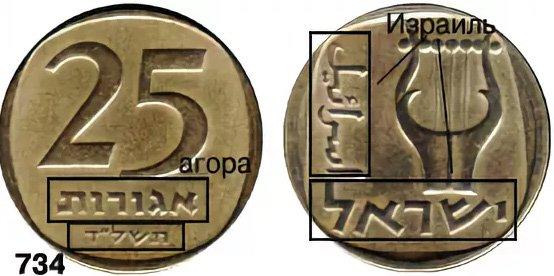 """Монета Израиля с """"древней"""" датой"""