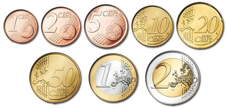 Монетный ряд Евро