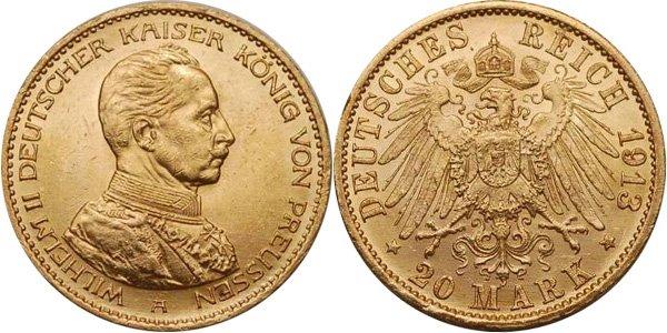 Золотая монета времён Второго Рейха