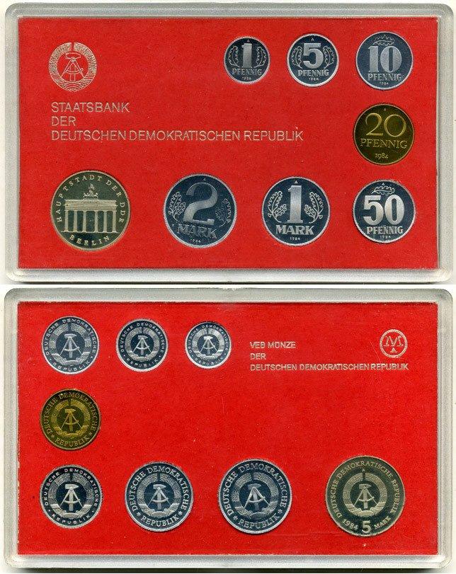 Коллекционный набор монет ГДР