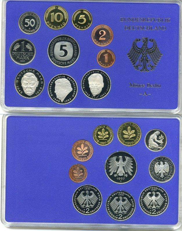 Коллекционный набор монет ФРГ