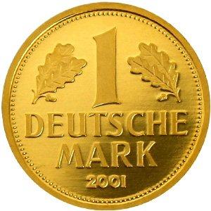 Коллекционная монета 1 марка ФРГ из золота