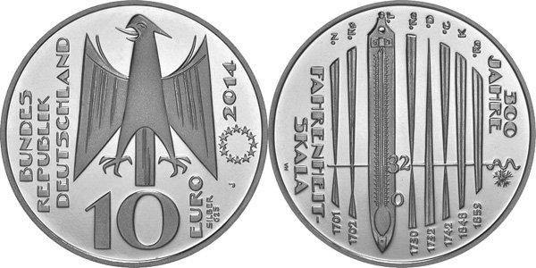 Коллекционная серебряная монета современной Германии