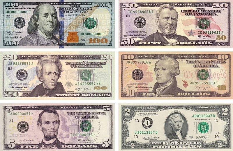 Разноцветные доллары наших дней