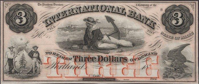 Доллары не всегда были зелёными