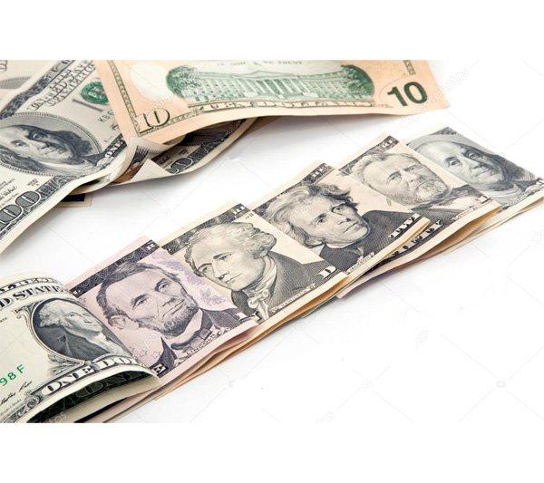 Доллары США с портретами президентов
