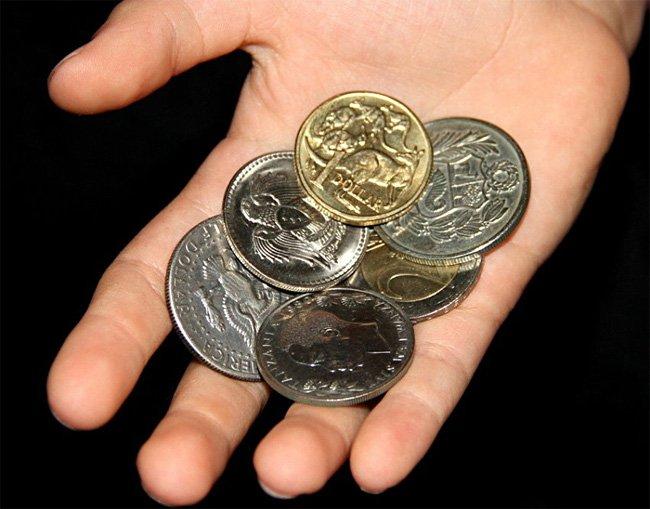 Иностранные монеты для обмена