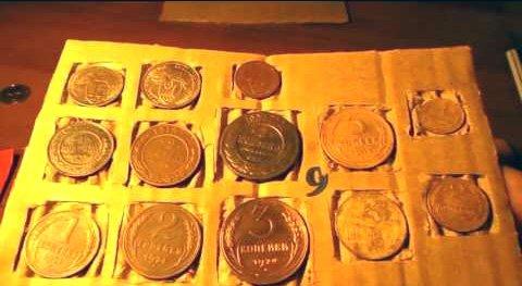 Индивидуальные гнёзда для монет в упаковке почтового вложения