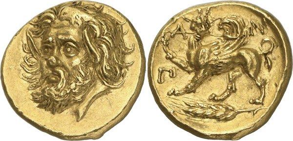 Золотой статер из коллекции Проспера