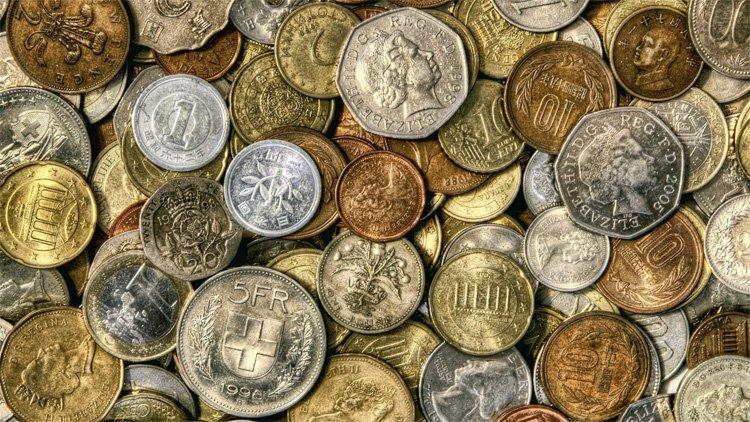 Различные монеты мира