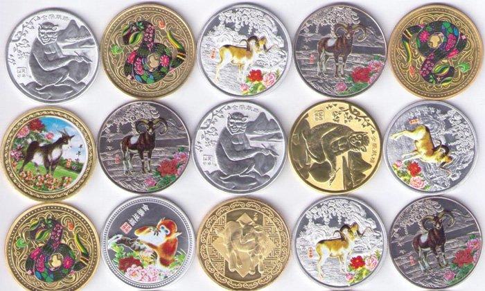 Подборка коллекционных монет в специальном исполнении