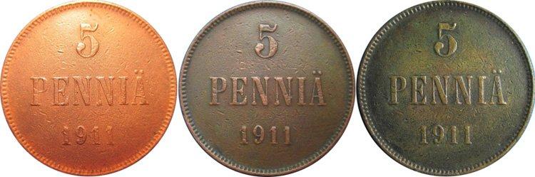 Этапы патинирования медной монеты