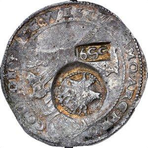 Надчекан на европейской монете