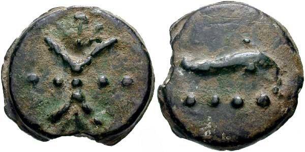 Монета Древнего Рима - триенс
