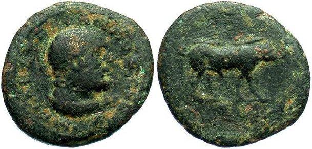 Монета Древнего Рима - квадранс