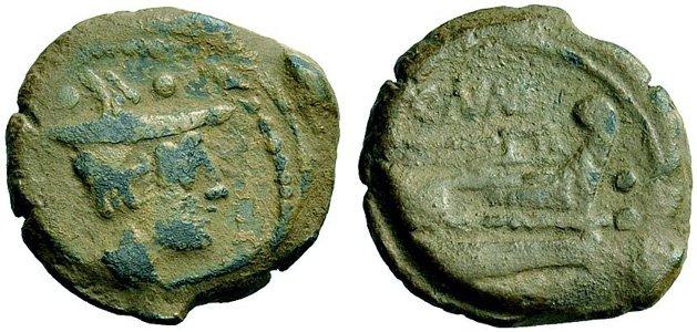 Монета Древнего Рима - секстанс