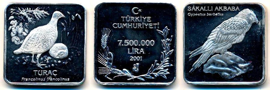 Коллекционные монеты Турции из серебра