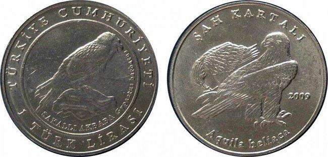 Птичий мир на аверсе и реверсе монеты 2009 года