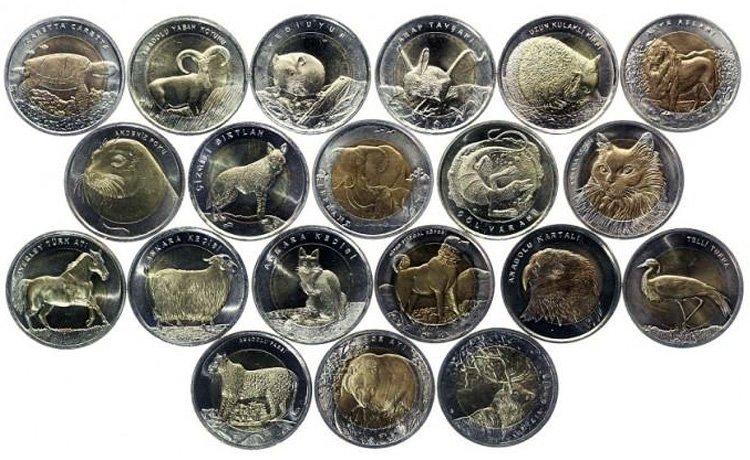 Полный комплект монет серии