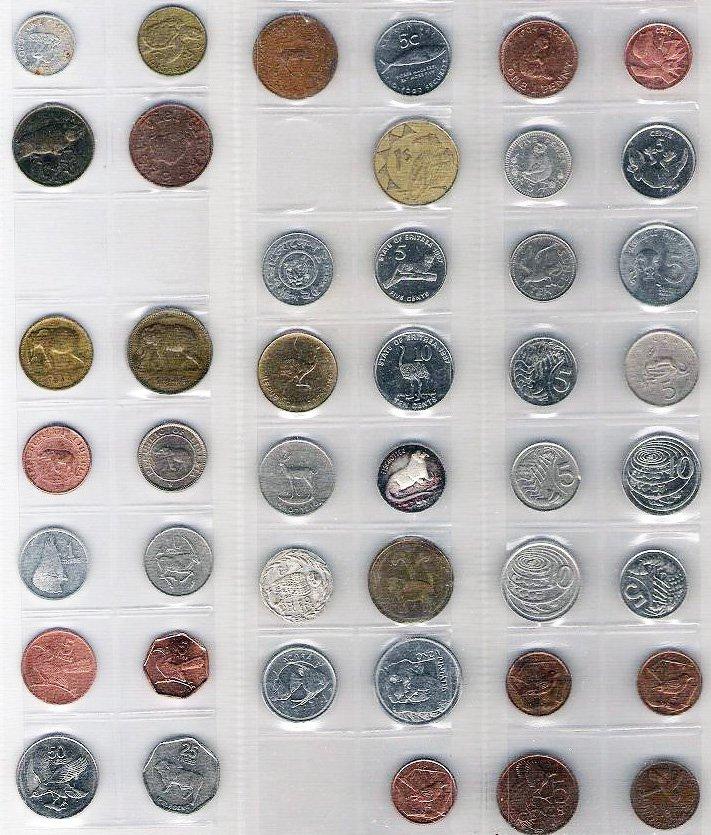 """Подборка монет с мотивом """"Фауна"""""""