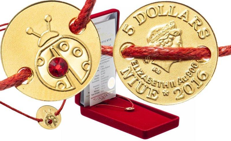 Монета-украшение