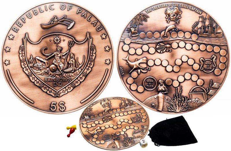 Монета с настольной игрой на одной из сторон