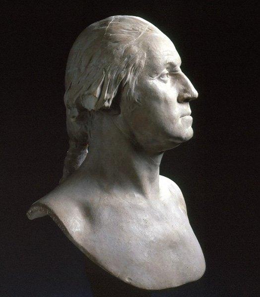 Прижизненный бюст Джорджа Вашингтона работы Жана-Антуана Гудона, 1785 год